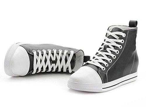 dessus chaussures chaussures dentelle Mme CN36 EU36 sport dascenseur chaussures UK4 plates en femmes US6 de chaussures Spring haut 4UqqpwH