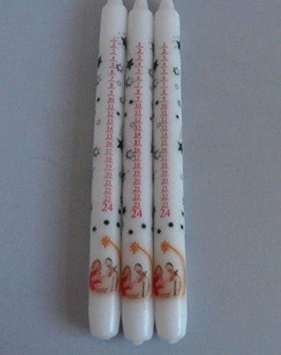 Bougies de l'Avent avec mangeoire 3 pièces Hollanda