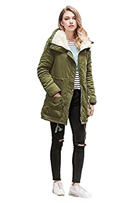 Winter Coats for Women Plus Size, Faux Fur Lined Parka Jackets Long Warm 12 Colors XS-2X