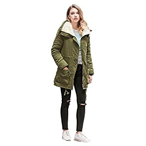 ACE SHOCK Women Plus Size Winter Coats Faux Fur Lined Parka Cotton Padded Jacket