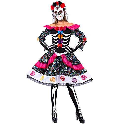 Spooktacular Creations Women's Day of Dead Costume Adult (Small)