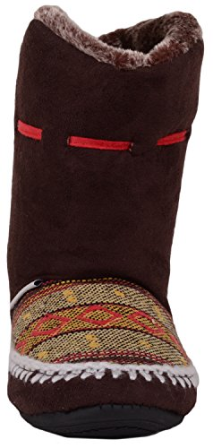 Inners Slippers Ladies Fur with Indoor On Faux Boots Shoes Brown Booties Warm Slip Womens q6nB6pRC