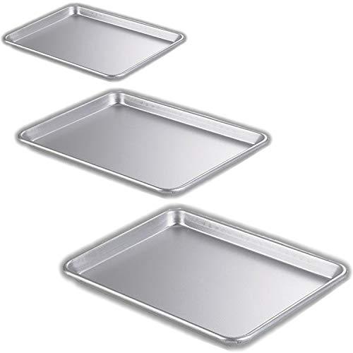 Bakeware Set - 3 Aluminum Sheet Pans - Half Size (13