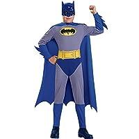 Batman, el valiente y el atrevido disfraz de Batman con máscara y capa, pequeño