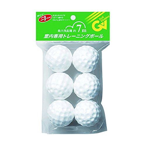 Tabata Styrofoam Golf Balls, White, 6 Balls/pack, GV-0306 by Tabata