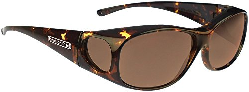 Jonathan Paul Fitovers Element Medium Polarized Over Sunglasses ; Tortoise & Polarvue - Sunglasses Jonathan Fitover Paul