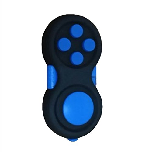 Price comparison product image Fidget Pad Cube Hand Shank Spinner Fidget Toys ADHD Anti-Anxiety (Blue)