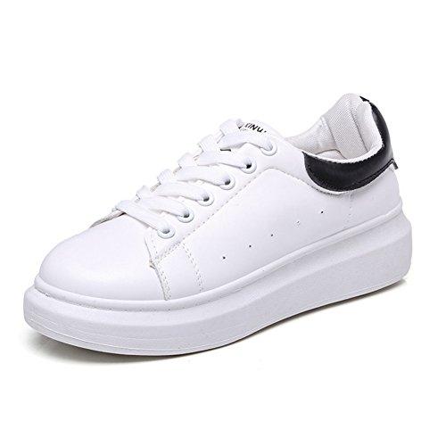 Cybling Mode Lage Top Witte Platform Sneakers Voor Vrouwen Outdoor Casual Wandelschoenen Zwart