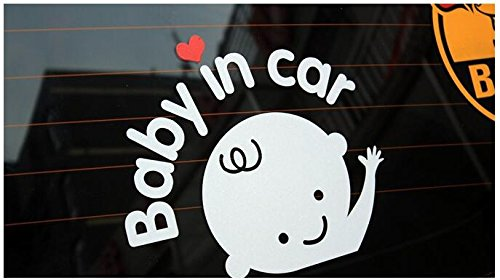 Baby On Board Reflective Convenient Baby in Car Vehicle Safety Sign Sticker (Baby in Car) FineFun