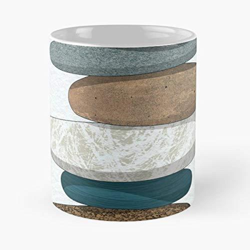 Pebbles Rocks Beach Geology Gift Ceramic Novelty Cup 11 Oz