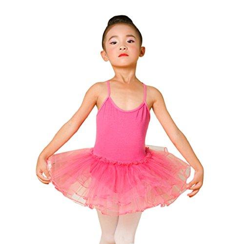 1-7 Years Old Girls,Yamally_9R Toddler Girls Ballet Dress Leotard Dance Skirt Gymnastics Strap Dancewear Clothes (3T, Hot Pink)
