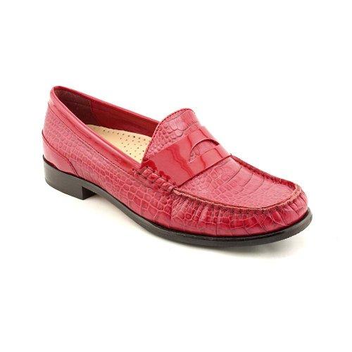 Cole Haan Laurel Red Croc Stampa Moc Loafer D38432 Donna Taglia 5 B