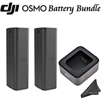 DJI OSMO Power Bundle: Includes 2 Osmo Batteries & Battery Checker & eDigitalUSA Microfiber Cleaning Cloth