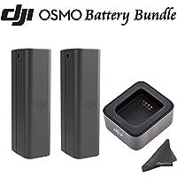 DJI OSMO Power Bundle: Includes 2 Osmo Batteries & Battery Checker & eDigitalUSA Microfiber Cleaning Cloth