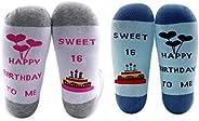 MBMSO SweetSixteenSocksHappybirthdaySocks2Pairs16thBirthdayGiftsSweet16GiftsforGirls