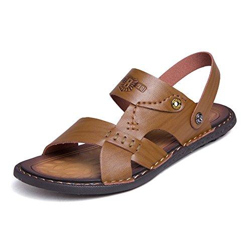 Backless Marrone traspiranti On uomo Dimensione 44 Sandali Strap Scarpe uomo EU da da Shoes Color Slip Cachi Switch 2018 PxIqwf688