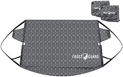 Protects from Snow FrostGuard Standard, Baltic Slate Premium Winter Windshield Snow Cover with Security Panel and Wiper Cover Ice and Frost
