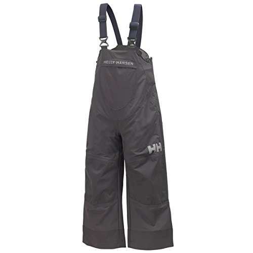 Helly Hansen Boy's K Shelter 2L HT Bib Pant, Ebony, 3 by Helly Hansen