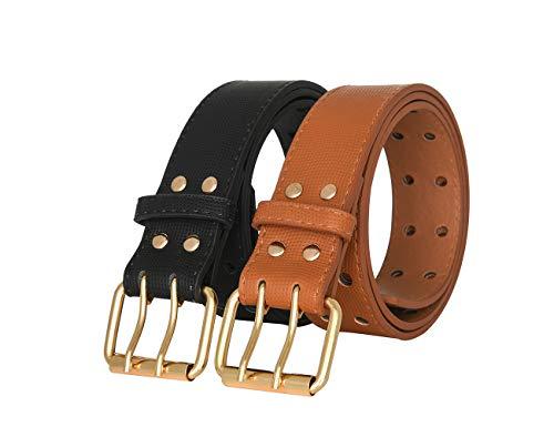 Women Belts 2 Pack PU...