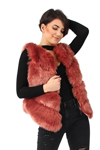 Missi London - Chaleco - para mujer Rosa Oscuro