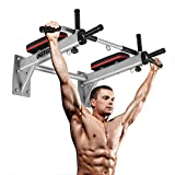 OneTwoFit Pull Up Bar Wall Mounted Chin Up Bar Home Gym Body Workout Bar for Indoor and Outdoor Use, Maximum Weight 330lbs OT066