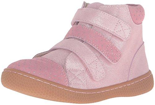 Livie & Luca Girls' Jamie Sneaker, Rose Sparkle, 8 M US Toddler