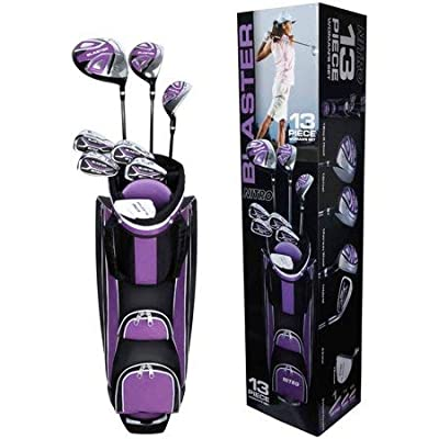 Nitro 13-Piece Ladies Golf Set,with Colorful Lightweight Cart Bag,Ideal for Beginners,Made for Right-Handed Golfers