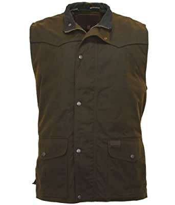 Outback Trading Co Men's Co. Magnum Fleece Lined Oilskin Vest Bronze Medium