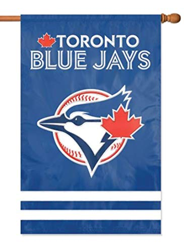 - Toronto Blue Jays Premium 2-Sided 28x44 Banner Applique & Embroidered House Flag