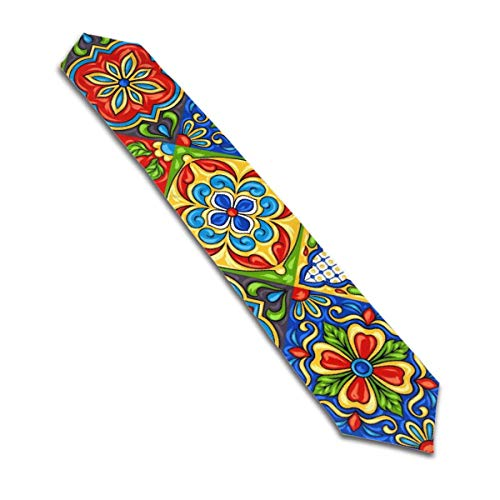 Table Runners 70inch Mexican Talavera Ceramic Tile Pattern. Ethnic Folk Ornament. Italian Pottery Long Table Runner for Birthday Parties,Banquets,Graduations,Engagements