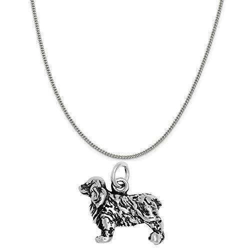 Raposa Elegance Sterling Silver 3D Cocker Spaniel Charm on a Sterling Silver 18