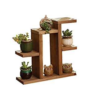 Retro moderno Mini de madera con varias plantas flores soporte Carnations madera combinación flores escritorio escritorio de oficina