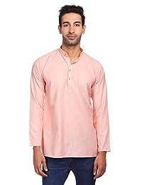 Wintage Men's Cotton Silk Blend Tailored Fit Casual/Festive Indian Kurta Dress Shirt : Multiple Color Options