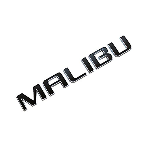 3d Emblem MALIBU for CHEVROLET MALIBU Chrome with Black Replacement