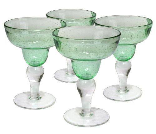 Artland Iris Margarita Glasses, Light Green, Set of 4