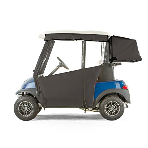 Club Car Precedent PRO-TOURING Sunbrella Track Enclosure - Black-BLK (Best Pro Touring Cars)