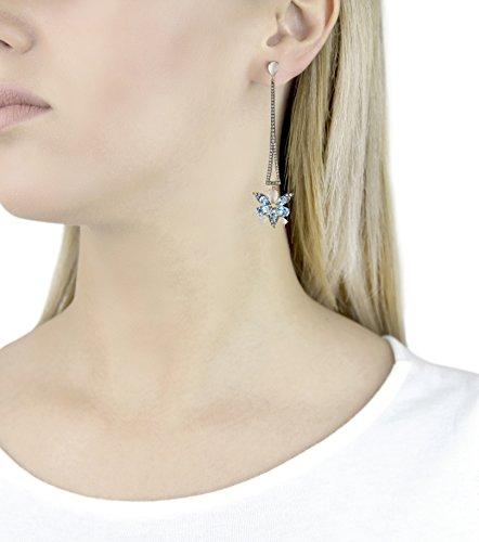 Brumani Collier avec Pendentif Or Rose 18carats (750/1000) Poire Topaze Bleu Femme 8.21cm