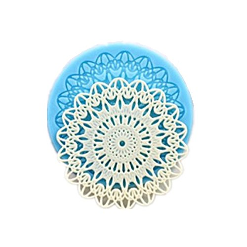 Allforhome(TM) Small Snowflake Flower Lace fondant Mould Sugarcraft Fondant Cake Cupcake Decoration Tool Icing Silicone Mold
