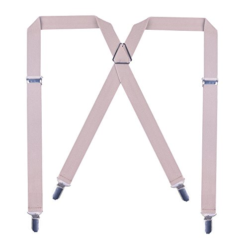 Advantage Ski Pant - BODY STRENTH X-Shape Suspenders for Men with Clips Wide Adjustable Braces Khaki