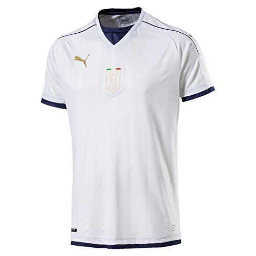 PUMA Men's FIGC Italia Tribute Away Shirt Replica, White/Peacoat, (Italia Semi)