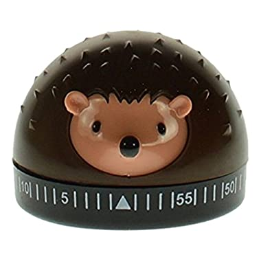 Kikkerland Hedgehog 60-Minute Kitchen Timer, Brown