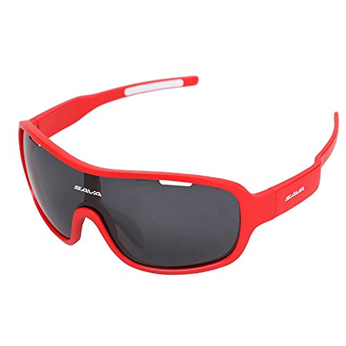 Zenicham Unisex PC HD Polarized TR90 Temple Sports Sunglasses Windbreak UV400 Protection with 5 Interchangeable - Bans Ray Nz