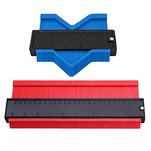 Contour Gauge Duplicator - 2Pcs Shape Contour Gauge 5 Inch &10 Inch Contour Duplicator Gauge for Wood Marking Shape Measuring Contour Gauge Duplicator Tool for Corners and Contoured
