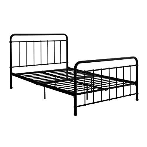 storage wrought no included adjustable headboard clearance bed sturdy and frame amazon iron spring footboard or required box vjnal for slp brooklyn slats metal dhp com height w