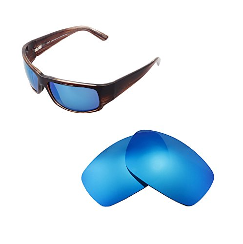 Walleva Replacement Lenses For Maui Jim World Cup Sunglasses - Multiple Options available (Ice Blue - - Maui Lens Replacement Jim