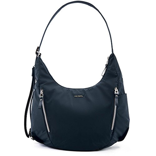 Convertible Cross Body Bag - PacSafe Stylsafe anti-theft convertible crossbody bag Messenger Bag, 38 cm, 10 liters, Blue (Navy 606)