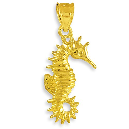 10 ct 471/1000 Or Hippocampe Charme Pendentif
