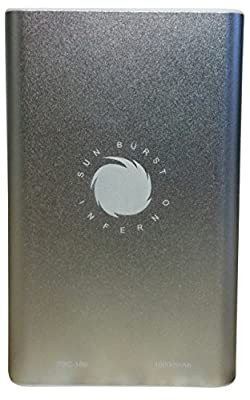 Sunburst Inferno 10000mAh Portable Charger Battery Power Bank - 2-Port Power Bank USB Battery Pack (2.1A Input/DC 5.0) External Battery For Iphone, iPad, Samsung Tablets & Other 5V-Enabled Devices
