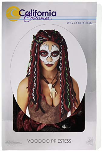 California Costumes Unisex Voodoo Priestess Adult Wig, Burgundy/Black,