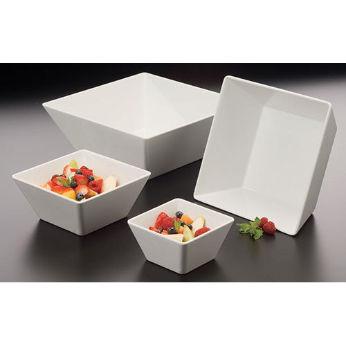 American Metalcraft MELSQ73 Melamine 7'' Square Bowl, 58-Ounce, White by American Metalcraft